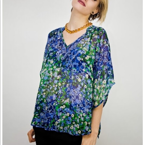 Anthropologie Tops - Anthropologie Silk Blouse by Fei, worn twice